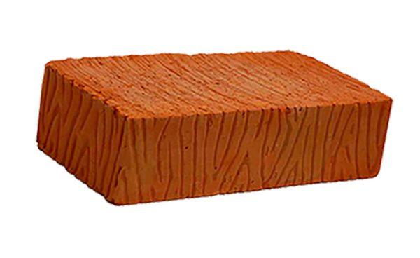 Керамический кирпич строительный (рядовой) полнотелый m-100 рифленая Воротынский