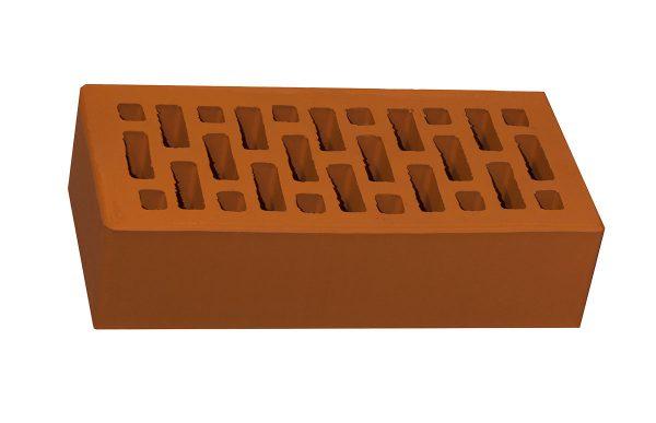 Керамический кирпич строительный (рядовой) пустотелый m-150 гладкая Новомосковский (НЗКМ)