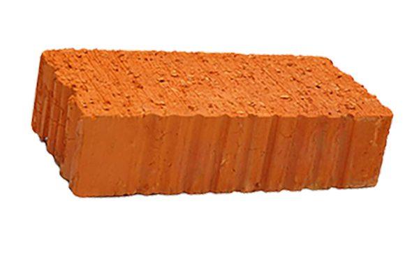 Керамический кирпич строительный (рядовой) полнотелый m-150 рифленая Великие Луки