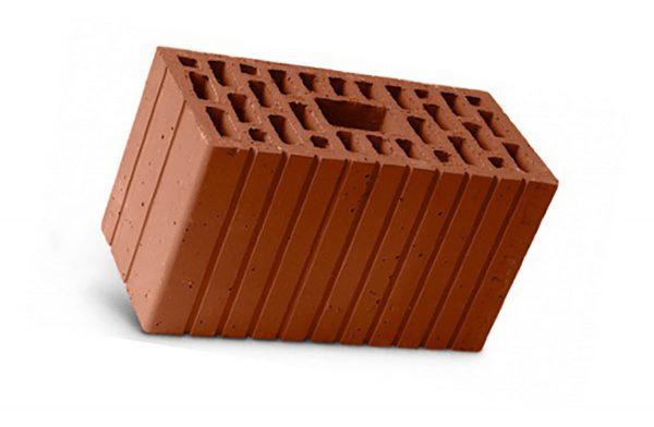 Керамический кирпич строительный (рядовой) пустотелый m-100 рифленая Wienerberger