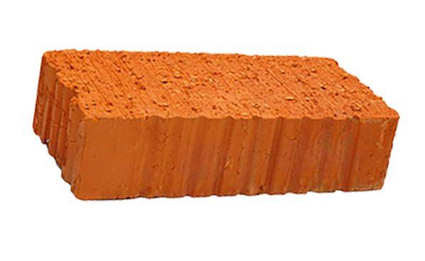 Керамический кирпич строительный (рядовой) полнотелый m-100 рифленая Сафоново