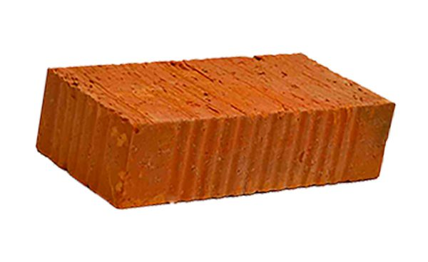 Керамический кирпич строительный (рядовой) полнотелый m-100 рифленая Товарково