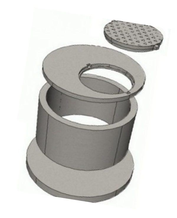 Крышка колодезная с люком ППЛ 15-1 (пластиковый люк)