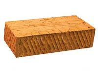 Керамический кирпич строительный (рядовой) полнотелый m-100 рифленая Горковский