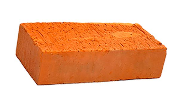 Керамический кирпич строительный (рядовой) полнотелый m-150 гладкая Ржев
