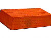 Керамический кирпич строительный (рядовой) полнотелый m-100 рифленая Гололобово