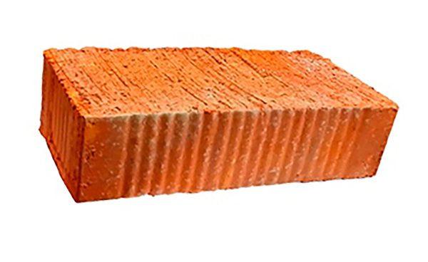 Керамический кирпич строительный (рядовой) полнотелый m-150 рифленая Алексин