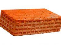 Керамический кирпич строительный (рядовой) полнотелый m-100 рифленая Караси