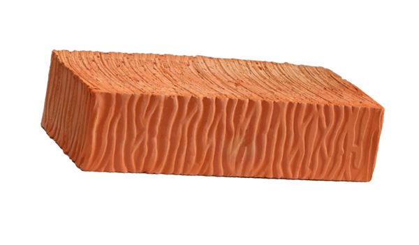 Керамический кирпич строительный (рядовой) полнотелый m-150 рифленая Воротынский