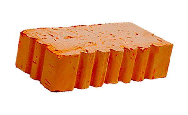 Керамический кирпич строительный (рядовой) полнотелый m-150 рифленая Теллура