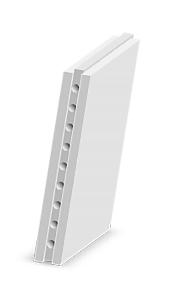 Плита пазогребневая 667x500x80 гипсвая пустотелая МАГМА (не влагостойкая)