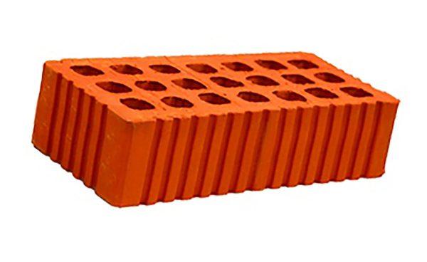 Керамический кирпич строительный (рядовой) пустотелый m-125 рифленая Михнево