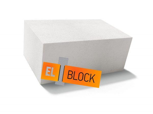Пеноблок (пенобетонный блок) El-Block (Эль Блок) D600 600х250х600 стеновой